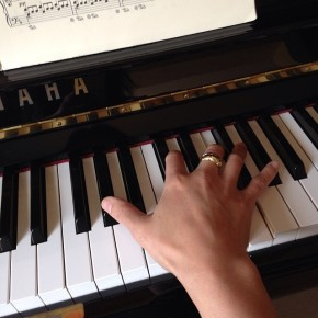 Practicing a Chopin Nocturne