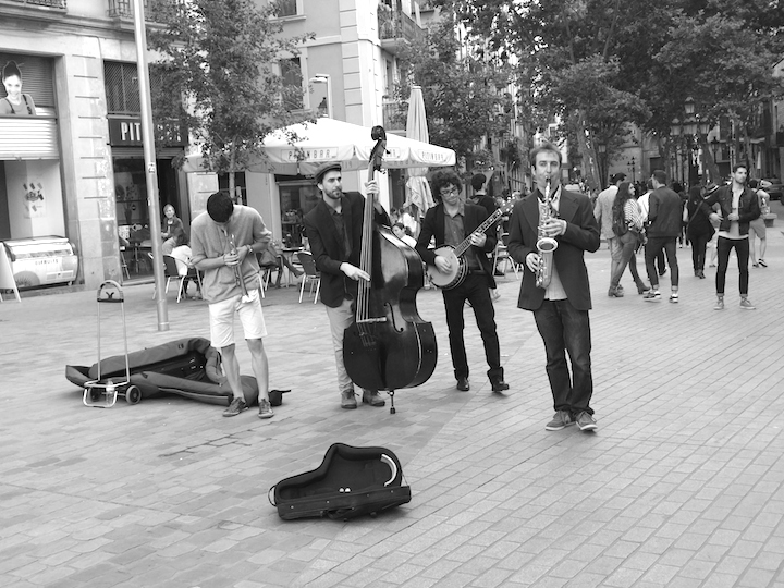 Street band in Born, Barcelona