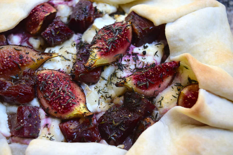 Goat Cheese, Fig, Serrano Ham and Thyme Galette | Papaya Pieces